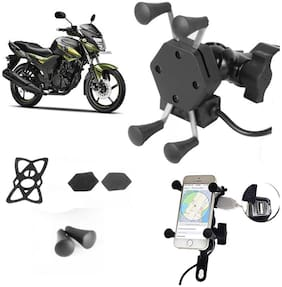 SHOP4U X-Grip Bike Mobile Holder with 2.1A USB Charge for Yamaha YZF r15