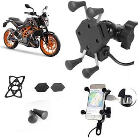 SHOP4U X-Grip Bike Mobile Holder with 2.1A USB Charge for KTM Duke 250