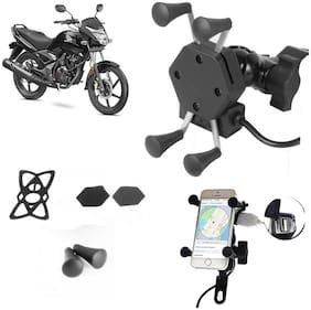 SHOP4U X-Grip Bike Mobile Holder with 2.1A USB Charge for Honda CB Unicorn 150