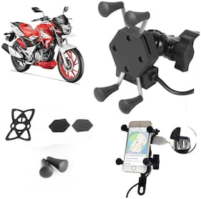 SHOP4U X-Grip Bike Mobile Holder with 2.1A USB Charge for Hero Xtreme 200S
