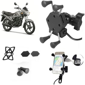 SHOP4U X-Grip Bike Mobile Holder with 2.1A USB Charge for Suzuki  Hayate