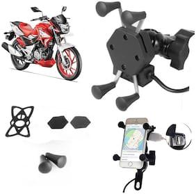 SHOP4U X-Grip Bike Mobile Holder with 2.1A USB Charge for Bajaj Pulsar 180