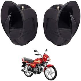 SHOP4U Skoda Type Windtone Horn For Hero Splendor Plus ( Black )