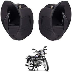 SHOP4U Skoda Type Windtone Horn For Hero Splendor Pro ( Black )