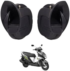 SHOP4U Skoda Type Windtone Horn For Yamaha Ray Zr ( Black )