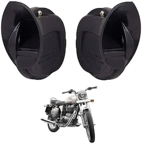SHOP4U Skoda Type Windtone Horn For Royal Enfield Bullet 350 ( Black )