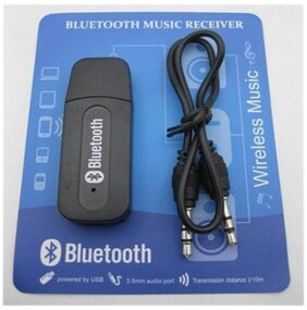 Shopimoz Bluetooth Stereo Adapter Audio Receiver 3.5Mm Music Wireless Hifi Dongle Transmitter Usb Mp3 Speaker Car (Color as per availability)
