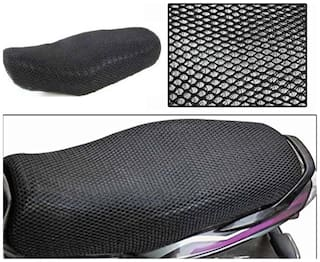ShopLand Premium Quality Sweat Free Double Net Single Bike Seat Cover For Hero Splendor Pro Classic