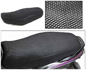 ShopLand Premium Quality Sweat Free Double Net Single Bike Seat Cover For Suzuki Lets