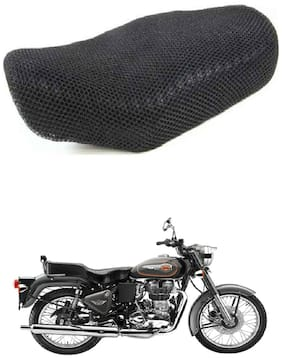 Shopland Sweat Free Double Net Single Bike Seat Cover For Royal Enfield Bullet 500