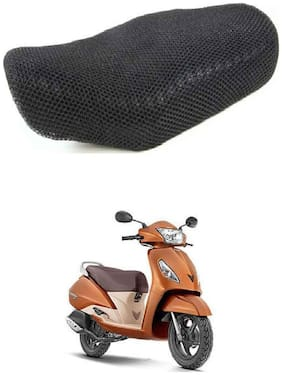 Shopland Sweat Free Double Net Single Bike Seat Cover For TVS XL 100 Comfort