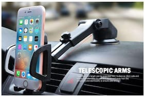 SHOPLINE Car Mobile Holder, Universal Magnetic Mobile Mount With Telescopic Arm For Dashboard, Windscreen or Work Desk