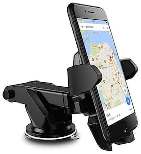 Shopline  Premium Long Neck One Touch Mobile Holder For Dashboard and Windshield