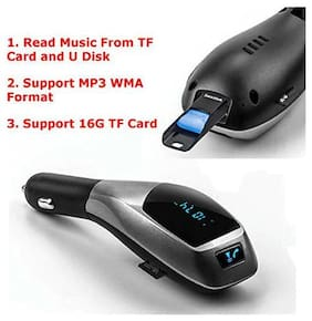 Shopline X5 Wireless Bluetooth Car Charger Kit with USB SD Card Reader