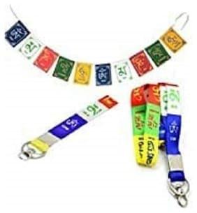 SHOPPIK PRO  Tibetan Lanyard,Tibetan Key Chain & Flag Combo of 3