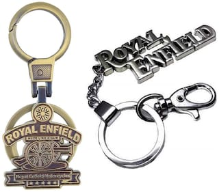 SHOPPIK PRO  royal enfield copper and royal enfield steel combo keychain