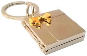 Shubheksha Book-Shape Openable Double Photoframe Metallic Keyring Key Chain