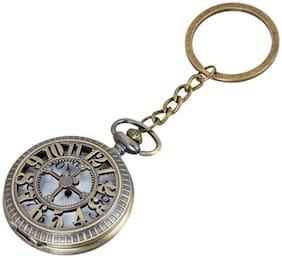 Shubheksha Beautiful Designer Pocket Watch Working Clock Metallic Key Chain