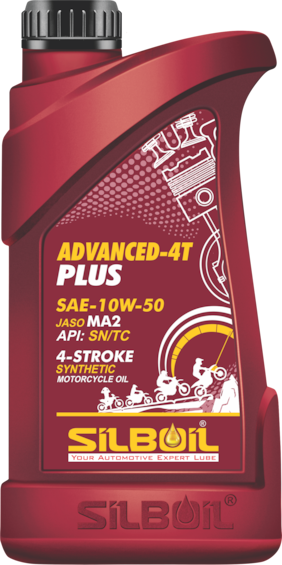 Silboil Advanced 4T-Plus 10W-50 Sn/Ma-2 For Fully Synthetic Ester Petrol Engine Oil For Bikes (900 ml)