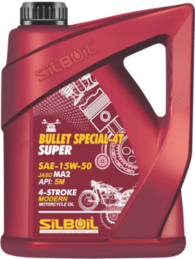 Silboil Bullet Special 4T- Super 15W- 50 Sm/Ma-2 Engine Oil For Royal Enfield Bullets (2.5 Ltr)