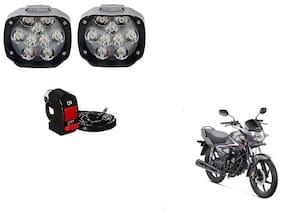 Skynex 9 led Fog Lamp Assembly set of 2 For Honda CB Shine Self-Drum