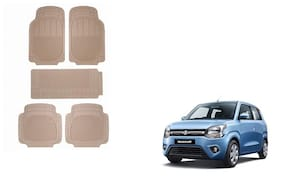 Skynex Beige Rubber Foot/Floor Mat Set Of 5 pc For Maruti Suzuki WagonR