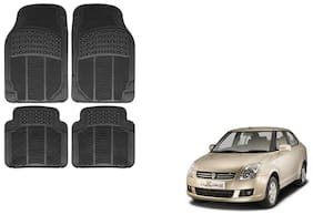 Skynex Black Rubber Floor/Foot Mat Set Of 4  For Maruti Suzuki Swift Dzire