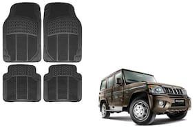 Skynex Black Rubber Floor/Foot Mat Set Of 4  For Mahindra Bolero
