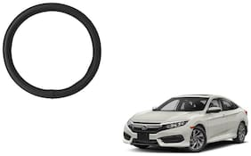 Skynex Black PU Leather Steering Cover For  Honda Civic
