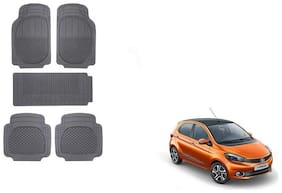 Skynex Black Rubber Mat Set of 5 pc For Tata Tiago