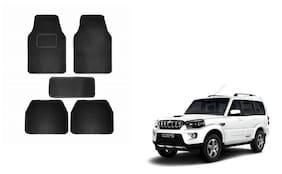 Skynex Black Carpet Foot/Floor Mat Set of 5 pc For Mahindra Scorpio