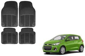 Skynex Black Rubber Floor/Foot Mat Set Of 4  For Chevrolet Spark