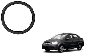 Skynex Black PU Leather Steering Cover For  Chevrolet Aveo