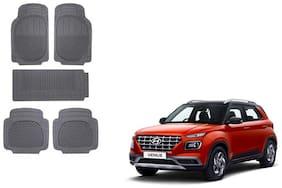Skynex Black Rubber Mat Set of 5 pc For Hyundai Venue