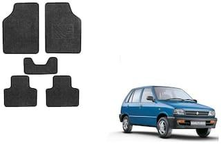 Skynex Black Heavy Carpet Foot/Floor Mat set of 5 For  Maruti Suzuki 800
