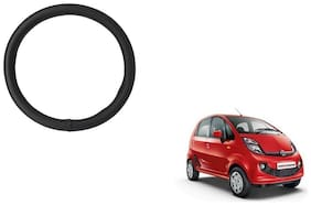 Skynex Black PU Leather Steering Cover For  Tata Nano