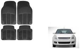 Skynex Black Rubber Floor/Foot Mat Set Of 4  For Maruti Suzuki Swift Dzire