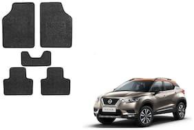 Skynex Black Heavy Carpet Foot/Floor Mat set of 5 For  Nissan Kicks