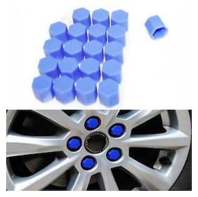 Skynex Car Wheel Hub Screw Cover Silicone Car Wheel Nuts Bolts Cover Blue For Hyundai Xcent