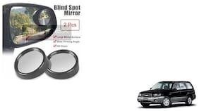 Skynex Round Black Blind Spot Mirror set of 2  For Maruti Suzuki Gypsi