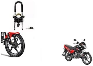 Skynex U-Type Bike Anti Theft Wheel Lock For Hero Glamour