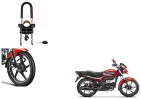 Skynex U-Type Bike Anti Theft Wheel Lock For Hero Passion Pro