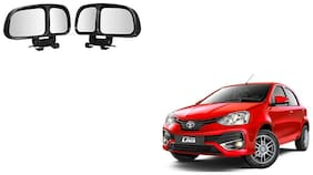 Skynex  Vehicle Car Blind Spot Mirrors Angle Rear Side View Black For Toyota Etios Liva