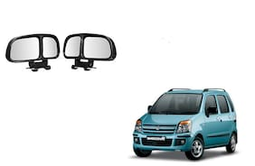 Skynex  Vehicle Car Blind Spot Mirrors Angle Rear Side View Black For Maruti Suzuki WagonR