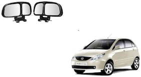 Skynex  Vehicle Car Blind Spot Mirrors Angle Rear Side View Black For Tata Indica Vista
