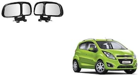 Skynex  Vehicle Car Blind Spot Mirrors Angle Rear Side View Black For Chevrolet Beat