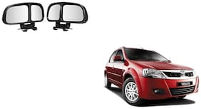 Skynex  Vehicle Car Blind Spot Mirrors Angle Rear Side View Black For Mahindra Verito