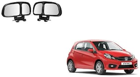 Skynex  Vehicle Car Blind Spot Mirrors Angle Rear Side View Black For Honda Brio