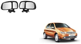 Skynex  Vehicle Car Blind Spot Mirrors Angle Rear Side View Black For Tata Indica