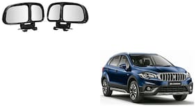 Skynex  Vehicle Car Blind Spot Mirrors Angle Rear Side View Black For Maruti Suzuki S-Cross